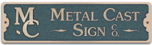 MCS logo - bronze signs