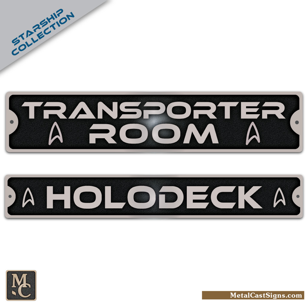 Transporter Room sign - Holodeck sign Star Trek