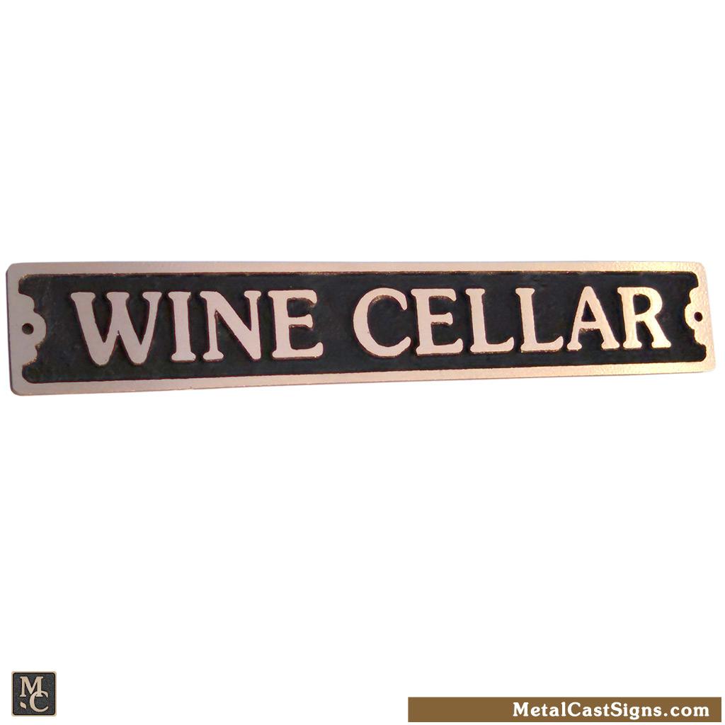 Wine Cellar sign 8.5inch bronze
