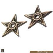 3 inch bronze mini stars. mini house washers
