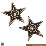 3 inch bronze mini stars. mini house washers