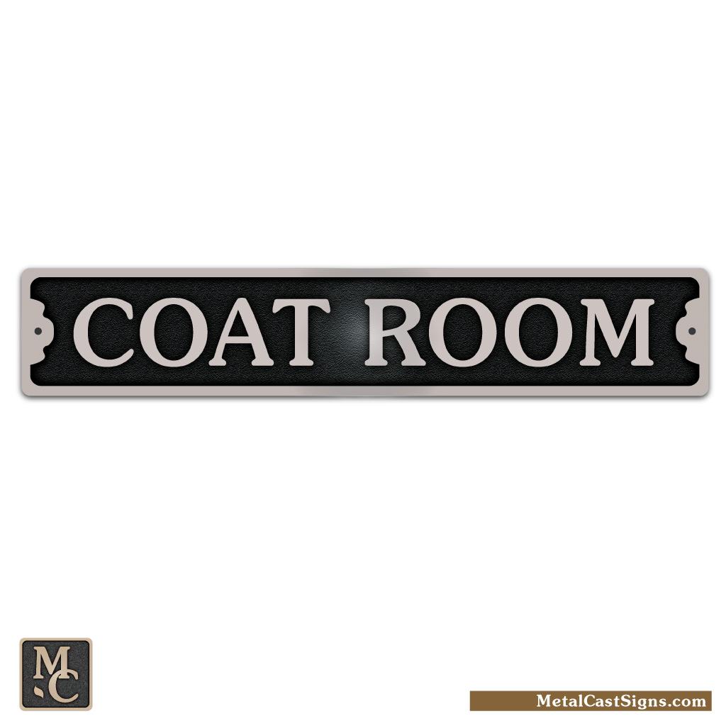 coat room 8.75in aluminum sign