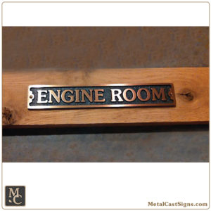 Engine Room - 8.5in classic cast bronze sign