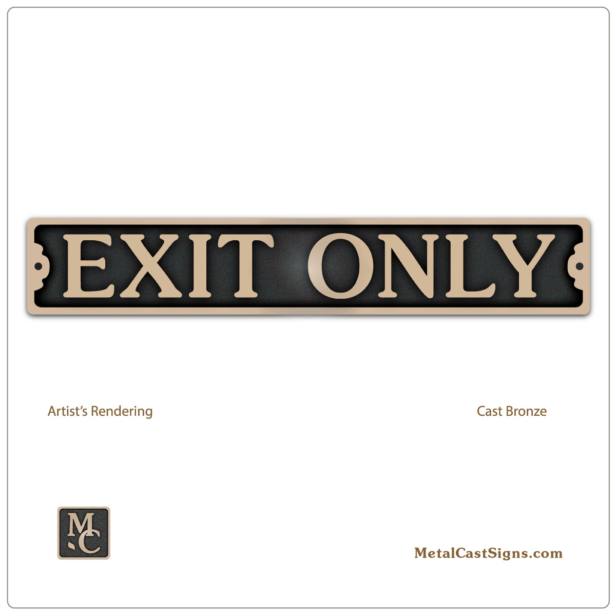 Exit Only - door sign 9.5inch