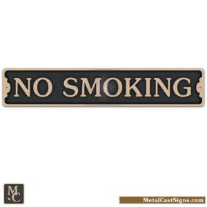 No Smoking - cast bronze sign - Made in USA