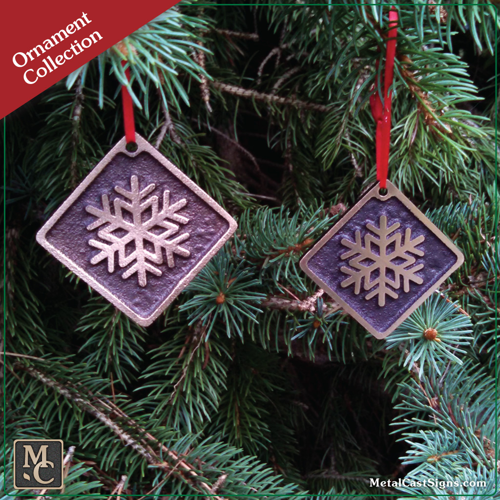 Snowflake bronze ornament - Christmas/Holiday
