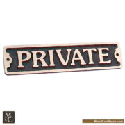 Private - bronze door sign