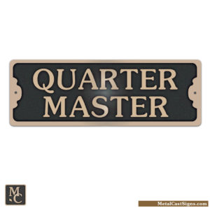 QuarterMaster bronze door sign - nautical