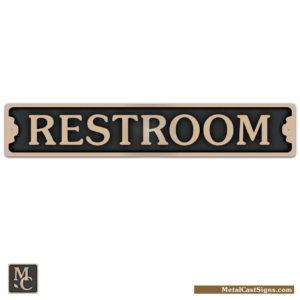 Restroom 7.5 inch bronze door sign