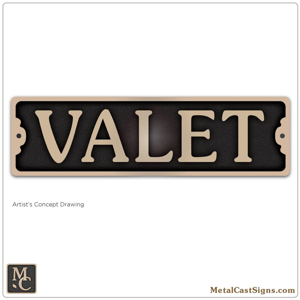 VALET - 7.5in cast bronze sign
