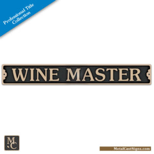 Wine Master 10.5in plaque sign - Professional Title