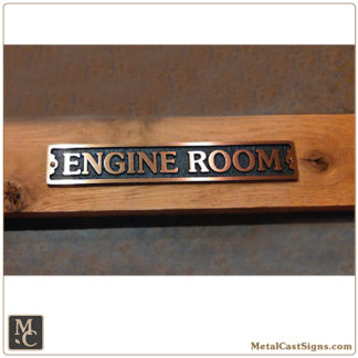 Engine Room – 8.5in bronze sign