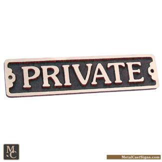 private 7 75 bronze door sign metal cast sign co